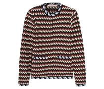 Jacquard-knit Jacket Burgunder