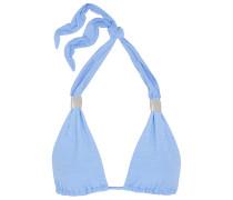 Halterneck Bikini Top Hellblau