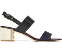 Gigi Sandalen aus Leder mit Velourslederbesatz