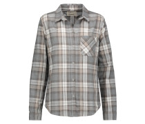 The Slim Boy Checked Canvas Shirt Grau