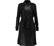 Amely Leather Trench Coat Black