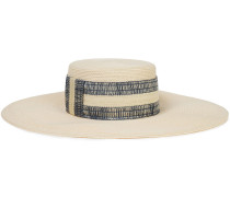 Loulou Embroidered Straw Sunhat