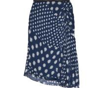 Kessa Asymmetric Printed Silk-georgette Skirt