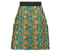 Fil Coupé Satin-twill Mini Skirt Mehrfarbig