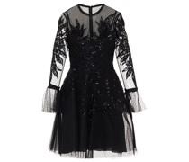 Embellished Point D'esprit Tulle Mini Dress