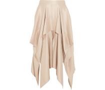 Draped Asymmetric Silk-crepe Skirt Puder