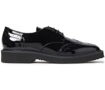 Hilary Perforated Patent-leather Brogues