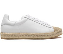 Leather espadrilles sneakers