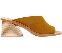Woman Suede Mules Camel