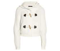Cropped Cotton Cardigan Ivory