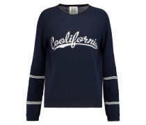 Coolifornia Intarsia-knit Wool And Cashmere-blend Sweater Mitternachtsblau