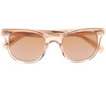 D-frame Acetate Sunglasses Pastel Orange Size --