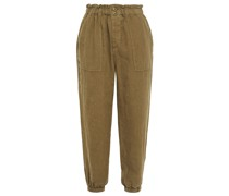 Derren Cropped Linen Tapered Pants