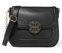 Amanda Textured-leather Shoulder Bag Schwarz