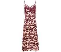 Frances Slip Dress aus Satin mit Guipure-spitzenbesatz und Print