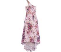 Robe aus Tüll mit Floralen Applikationen und Asymmetrischer Schulterpartie