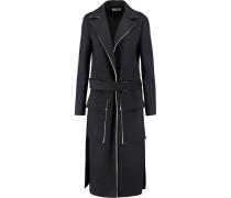 Fleece Wool-blend Coat Rauchblau