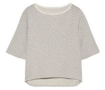 Flynn polka-dot stretch-jersey pajama top