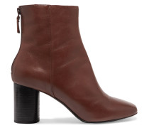 Leather Ankle Boots Dunkelbraun