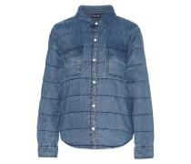 Quilted Chambray Jacket Mittelblauer Denim