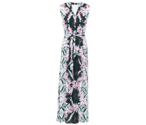 Honey Belted Printed Voile Maxi Dress