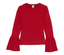 Anna fluted cashmere sweater