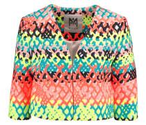 Cropped Jacquard Jacket Mehrfarbig
