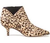 Kadison Leopard-print Calf Hair Ankle Boots