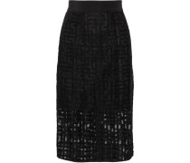 Embroidered Tulle Skirt Schwarz