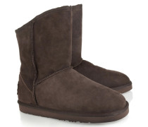 Shearling Ankle Boots Braun