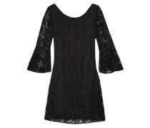 Cutout Lace Dress Schwarz
