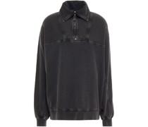 Sweatshirt aus Biobaumwollfrottee in ausgewaschener Optik