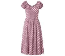 Mariette Kleid aus Popeline aus Einer Baumwollmischung mit Polka-dots