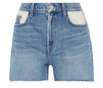 The Aficionado Canvas-paneled Denim Shorts