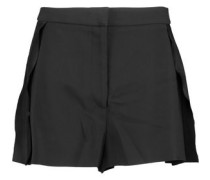 Frank pleated crepe shorts