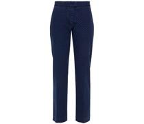 Polka-dot Low-rise Slim-leg Jeans
