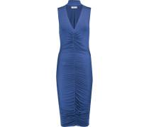 Ruched Stretch-jersey Dress Lavendel