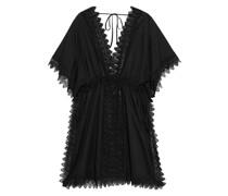 Alaya Strandkleid aus Voile aus Einer Baumwollmischung mit Häkelspitzeneinsätzen
