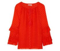 Madison fil coupé silk-blend blouse