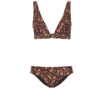 Floral-print Triangle Bikini