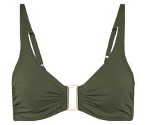 Bel Air Embellished Ruched Bikini Top