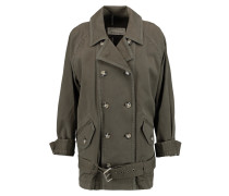 Zeta Belted Cotton-blend Twill Jacket Armeegrün