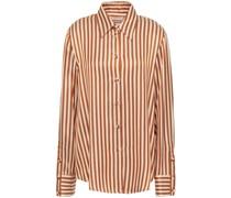 Gestreiftes Hemd aus Glänzendem Twill