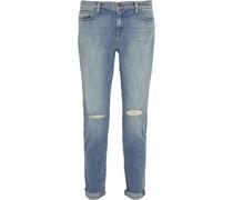Jake Distressed Low-rise Boyfriend Jeans