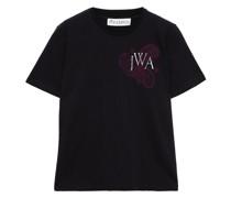 T-shirt aus Baumwoll-jersey mit Stickereien