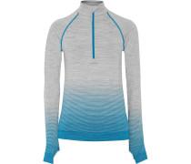 Lindsay Printed Marled Stretch-jersey Jacket Hellblau