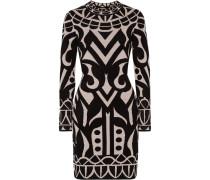 Jani Chenille-intarsia Stretch-knit Dress Schwarz