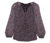 Saylor printed silk-georgette blouse