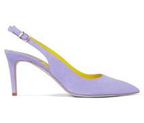 Suede Slingback Pumps Lavendel
