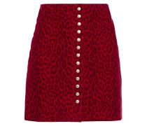 Leopard-print Suede Mini Skirt